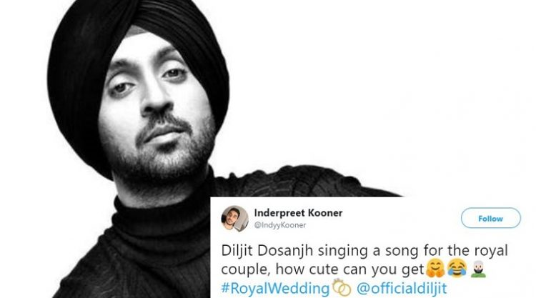 Diljit Dosanjh Offers Musical Tribute To The Royal Couple And Twitter Can't Stop Gushing