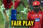 IPL 2018: Chris Gayle Shows True Sportmanship, Walks Off Straightaway After Edging The Ball