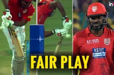 IPL 2018: Chris Gayle Shows True Sportmanship, Walks Off Straightaway After Edging The Ball
