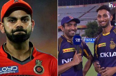 RCB trolled, Prasidh Krishna, Robin Uthappa, Prasidh Krishna 4 for 30, Royal Challengers Bangalore, Kolkata Knight Riders, IPL 2018, IPL Live, IPL 2018 Live, VIVO IPL, VIVO IPL 2018, RCB Ee Sala Cup Naamde