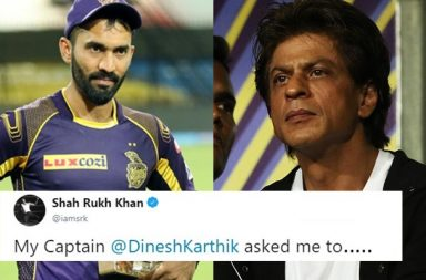 IPL 2018: Dinesh Karthik Asks Shah Rukh Khan For A Favour & He Comes Up With A Heart-Winning Tweet