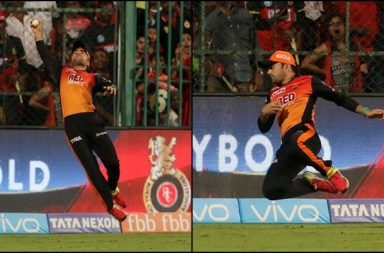 IPL 2018, RCB vs SRH: Rashid Khan Flies In Air To Take One-Handed Stunner At Boundary — Watch