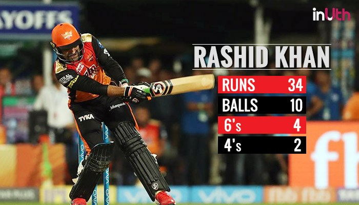 IPL 2018 KKR vs SRH, Qualifier 2: Rashid Khan Copies Dhoni's 'Helicopter' Shot, Gets 'Legend' Tag On Twitter For His 34 off 10