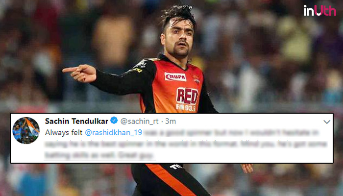IPL 2018: Sachin Tendulkar Declares Rashid Khan As The Best T20 Spinner In The World
