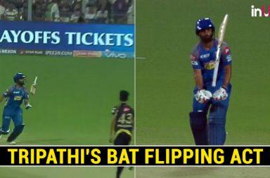 Rahul Tripathi, Rahul Tripathi weird shot, Rajasthan Royals vs Kolkata Knight Riders, RR vs KKR, Kolkata Knight Riders vs Rajasthan Royals, KKR vs RR, IPL 2018 Eliminator, IPL 2018, IPL Live, IPL 2018, Live VIVO IPL, VIVO IPL 2018