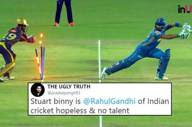IPl 2018, KKR vs RR: Stuart Binny Fails Again To Score & Tweeps Call Him 'Rahul Gandhi Of Indian Cricket'