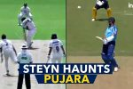 Dale Steyn Makes Cheteshwar Pujara His Bunny, Gets Him Out For Duck Twice In A Week —Watch