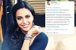 Swara Bhaskar Replies To 'Grandmother' Tweets Which Trolled Her Over Masturbation Scene In Veere Di Wedding