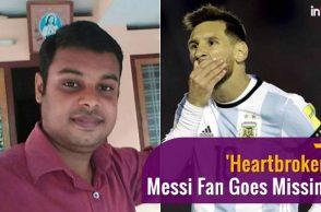 'Heartbroken' Messi fan in Kerala missing, suicide note found