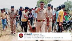 UP Police Says Sorry After An Image Of A Lynch Victim Being Dragged In Their Presence Goes Viral
