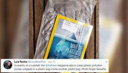 Nat Geo Mag's Latest Issue About Plastic Pollution Came Wrapped In A Plastic Cover
