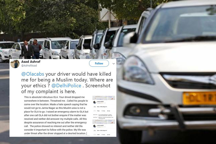 """Won't Go To 'Filthy' Jamia Nagar."" How A Driver Of An Online Cab Aggregator Threatened This Muslim Journalist"