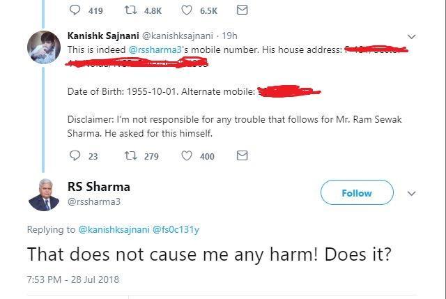Aadhaar Challenge: TRAI Chief Tweets His UIDAI Number, Gets