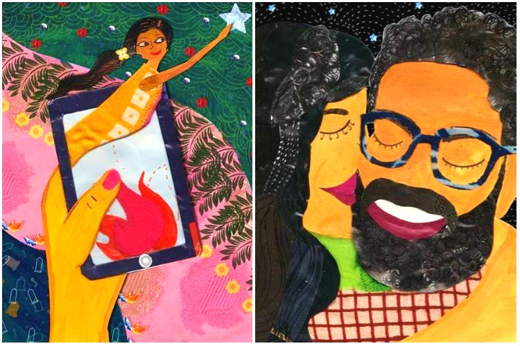 This Artist Explores The Indian Dating Culture Through Her Illustrations