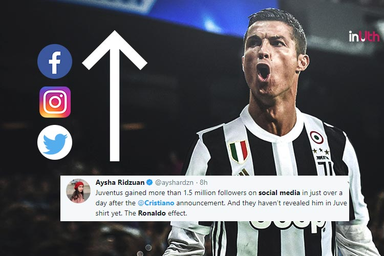 buy popular 74e85 b3cdd Juventus' Social Media Followers Increase By Millions After ...