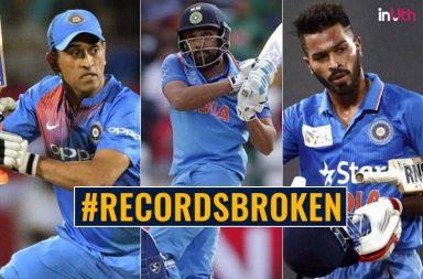 Rohit Sharma, MS Dhoni, Hardik Pandya Set Several Records During Third T20I Against England