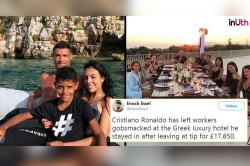 'Rich Man' Cristiano Ronaldo Gives Rs 16 Lakh Tip At A Greek Hotel, Twitter Stunned