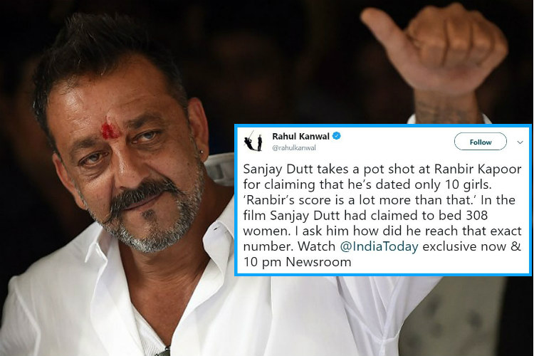 It Happened! A TV Journalist 'Investigated' Sanjay Dutt ...