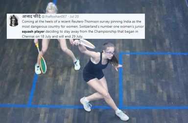 Ambre Allinckx, Swiss squash player, Ambre Allinckx pulls out, World Junior Squash Championship 2018, India unsafe for women, Ambre Allinckz parents, Thomson Reuters Foundation, Shashi Tharoor