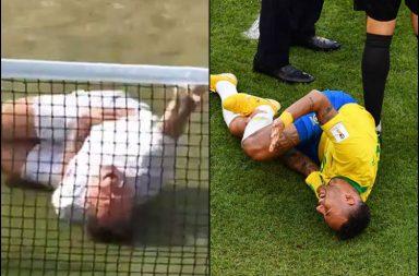 Jonas Bjorkman Neymar, Neymar Jr. foul cries, Neymar Challenge, Neymar rolling, Neymar Brazil, FIFA World CUp 2018, Bahrahmi, Wimbledon 2018