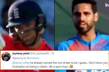 David Willey, Bhuvneshwar Kumar, Kuldeep Yadav, Kuldeep Yadav 5 wickets vs England, England vs India 1st T20I, IND vs ENG, ENG vs IND, India's tour of England 2018, David Willey allegations, Willey-Bhuvneshwar fight