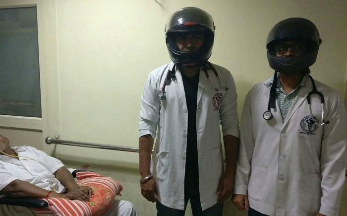 maharashtra medics helmet