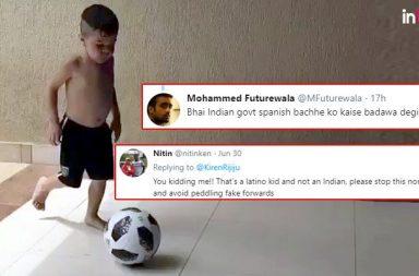 Kiren Rijiju Gets Trolled For Posting 'Wrong Video' While Praising PM Modi