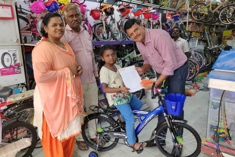 #MuchWow: After Donating Her Savings To Kerala Flood Relief, 9 YO Finally Gets A Bike