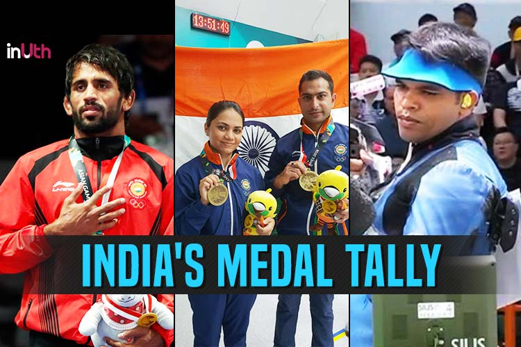 Asian Games 2018 Medal Tally: India At No 8 With 1 Gold, 1 Silver & 1Bronze