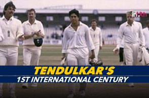 Sachin Tendulkar 1st century, Sachin Tendulkar first Test century, Sachin Tendulkar first international century, Sachin Tendulkar 119 vs England, Sachin Tendulkar 119 Manchester, Old Trafford, India vs England 1990 Manchester Test, England vs India 1990 Test, Youngest to score Test century