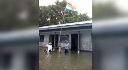 Why This Pic Of Flooded Assam School Hoisting Tricolour Has Come To Haunt A 9-Year-Old Boy