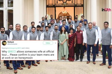 'Why BCCI Allows Wives,' Twitterati Lashes Out At Anushka For Posing In Team's Official Pic