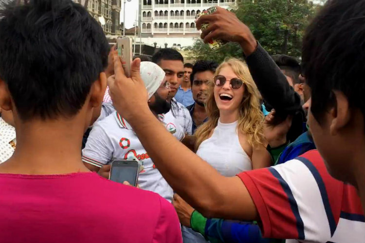 White Woman Selfie Rampage In Mumbai Youtube Image for InUth