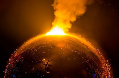 burning earth climate change+