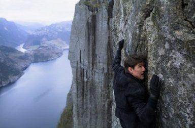 Tom Cruise, Tom Cruise movies, Tom Cruise Mission Impossible: Fallout, Tom Cruise Mission Impossible Fallout Norway, Norway, Pulpit Rock Mission Impossible Fallout