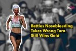 Runner Battles Bloody Nose, Goes On To Win Gold In Women's Marathon – WATCH
