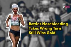 Runner Battles Bloody Nose, Goes On To Win Gold In Women's Marathon - WATCH
