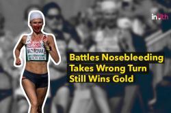 Runner Battles Bloody Nose, Goes On To Win Gold In Women's Marathon - WATCH