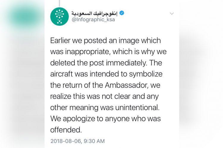 saudi info tweet blurred