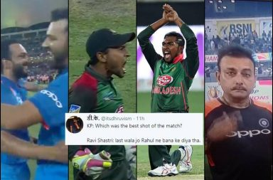 India vs Bangladesh 2018, Bangladesh vs India 2018, IND v BAN Final, Asia Cup 2018, Asia Cup 2018 final, BAN v IND, Kedar Jadhav hamstring, Liton Das century, Ravi Shastri trolled, Mushfiqur Rahim trolled, Soumya Sarkar naagin dance