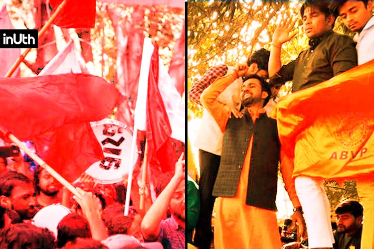 At JNU Elections, ABVP And The Left  Have Same Allegations