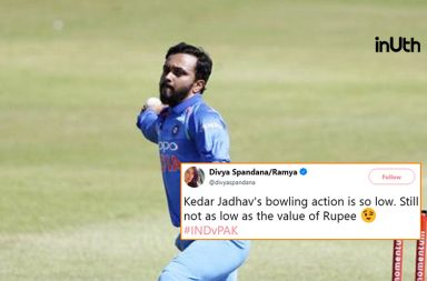 Kedar Jadhav, Kedar Jadhav bowling action, Kedar Jadhav BJP, Kedar Jadhav Congress, BJP-Congress Twitter, Divya Spandana Congress, BJP Karnataka Twitter, India vs Pakistan 2018, Pakistan vs India 2018, Asia Cup 2018, IND v PAK, PAK v IND