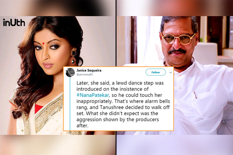 Tanushree Dutta, Tanushree Dutta news, Tanushree Dutta allegations, Tanushree Dutta sexual assault, Nana Patekar sexual assault, Nana Patekar Tanushree Dutta allegations