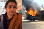 #NotCool: Failing To Meet Narendra Modi, This Varanasi Woman Set A Bus On Fire