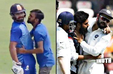 Rohit Sharma, Rohit Sharma Vijay Hazare Trophy 2018, Fan kisses Rohit Sharma, Fan touches Rohit Sharma's feet, Fan kisses Kohli, Mumbai vs Jharkhand