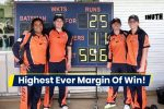 Women's Team Scores 596 Runs In 50-Over Game & Wins Match By A WTF Margin Of 571!
