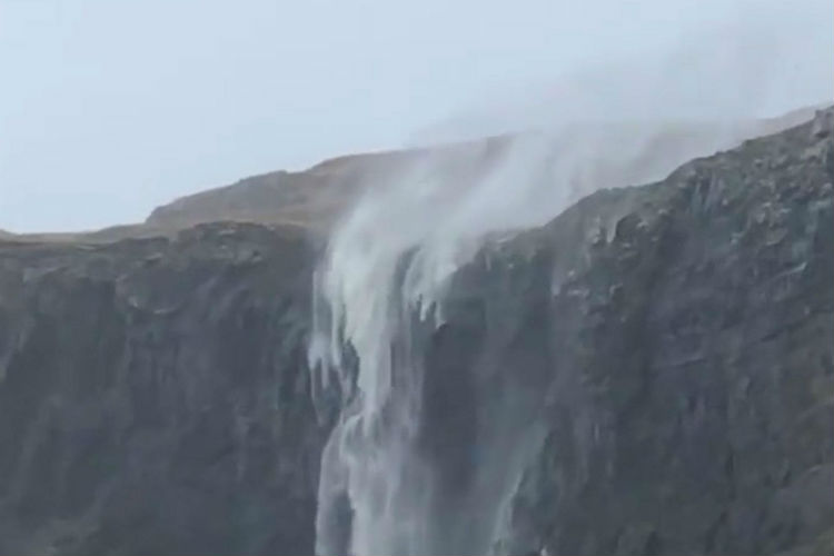 #MuchWow: Waterfall 'Reverses' Flow Because Of Strong Storm Winds