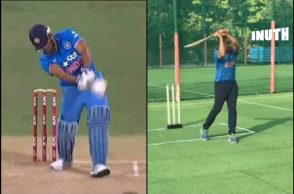 Aakash Chopra helicopter shot, Aakash Chopra, MS Dhoni helicopter shot, Players try helicopter shot, Players copy helicopter shot, Helicopter shot fails, Aakash Chopra funny, Aakash Chopra trolled