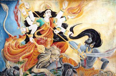 Durga-Mahiusuramardini-Pashupathninath-Mural