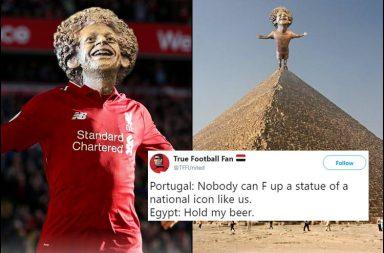 Mohamed Salah statue, Mohamed Salah, Mohamed Salah trolled, Mohammed Salah statue sculptor, Mai Abdullah sculpture, Mohamed Salah statue meme